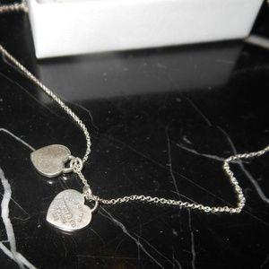 Tiffany & Co. Double Hearts Chain Return To Tiffan